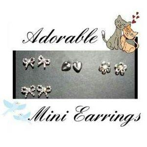♥️Adorable Mini Earrings!! Set of 4 pair!!